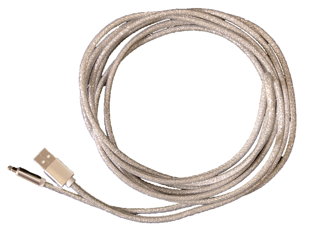 Simply Southern 10ft Charging Cable-Glitter Silver