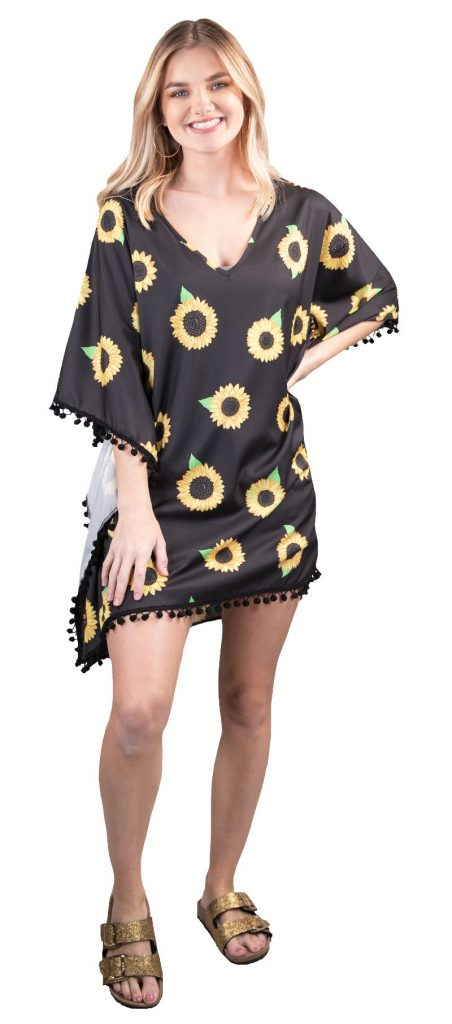 Simply Southern Sunflower Black Cover-up