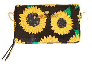 Simply Southern Sunflower Phone Crossbody