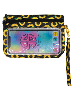 Simply Southern Sunflower Phone Wristlet