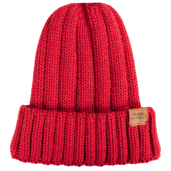 Simply Southern Cuffed Beanie Red