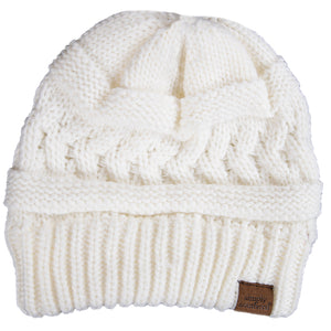 Simply Southern Cable Knit Beanie White