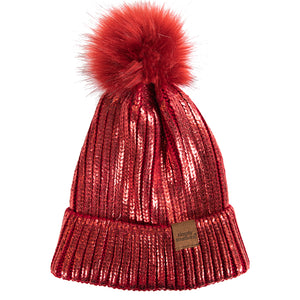Simply Southern Sequin Beanie Red