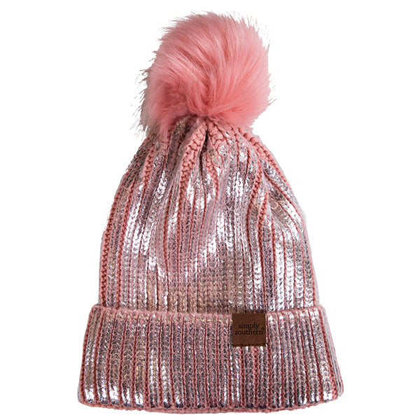 Simply Southern Sequin Beanie Pink