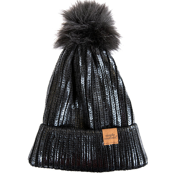 Simply Southern Sequin Beanie Black
