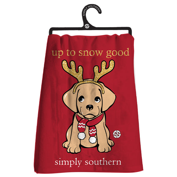 Simply Southern Puppy Dish Towel