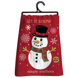 Simply Southern Snowman Dish Towel