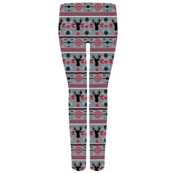 Simply Southern Grey Reindeer Leggings
