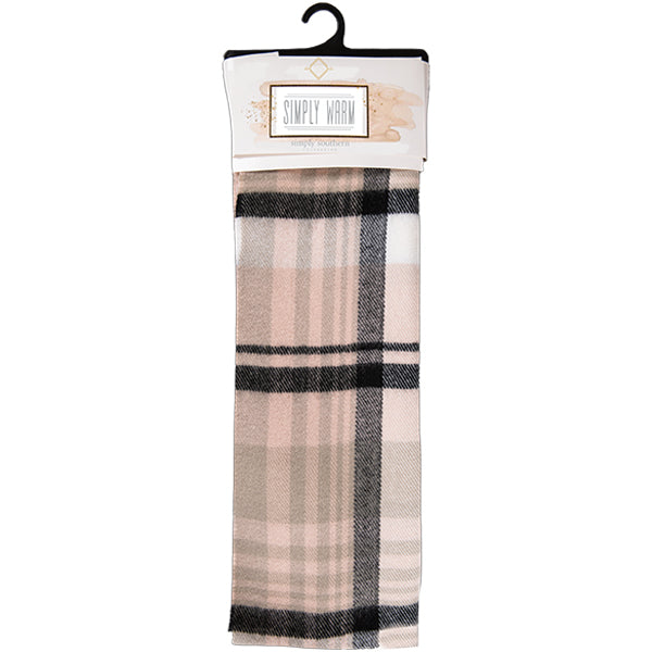 Simply Southern Simply Warm Scarf Cream and Black