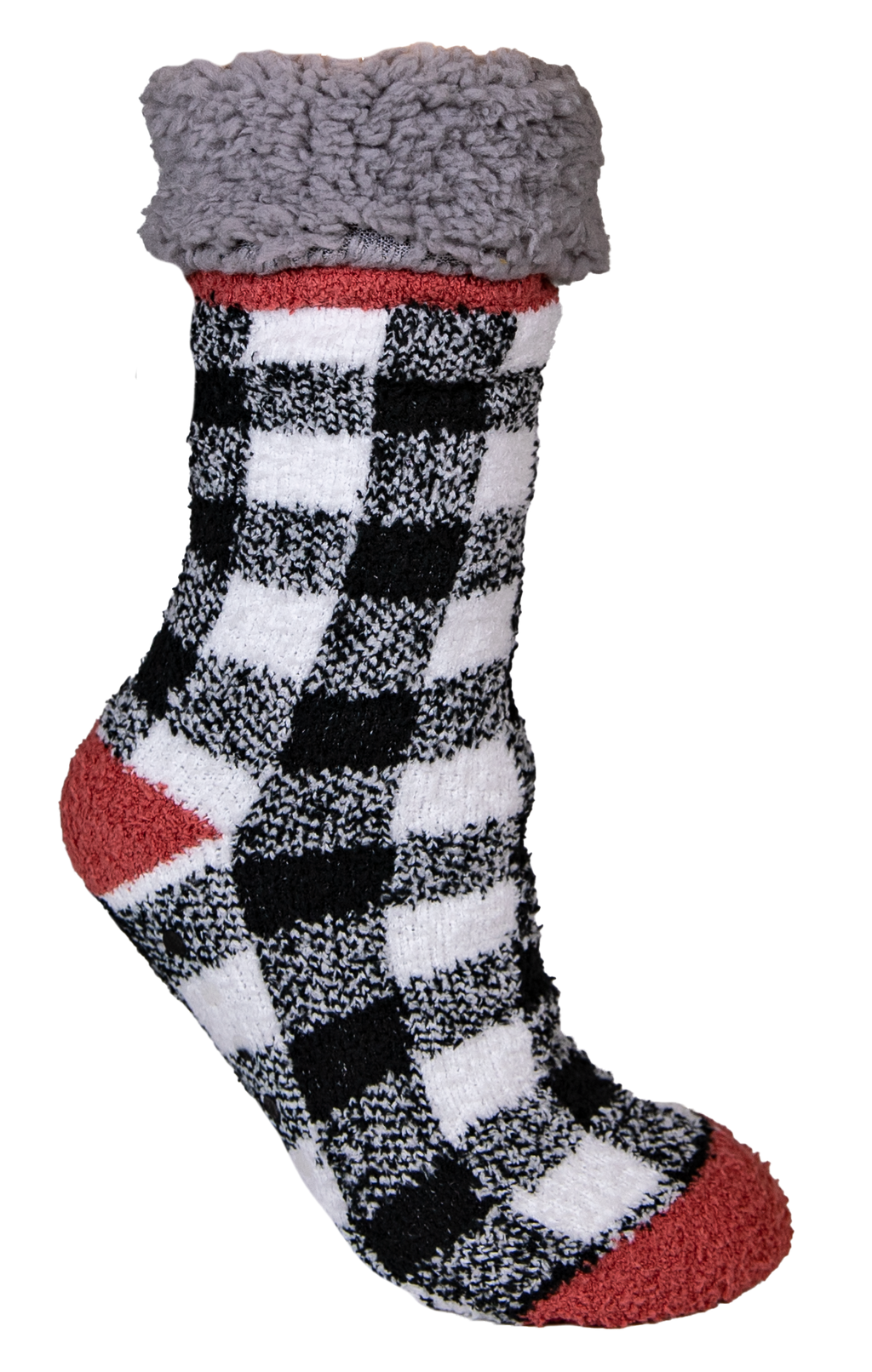 Simply Southern White Plaid Camper Socks