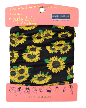 Simply Southern Wide Headband-Sunflower