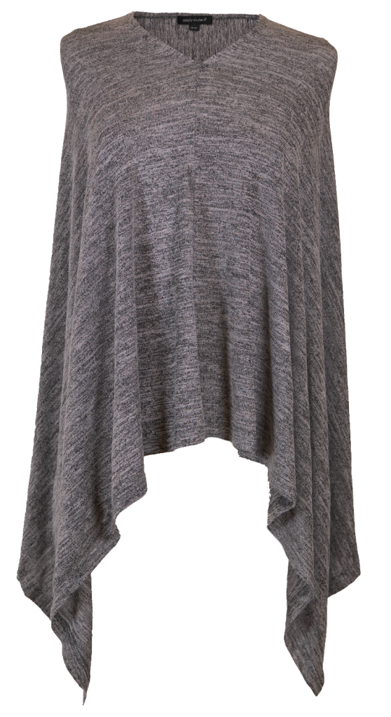 Simply Southern Knit Poncho-Dark Heather Grey