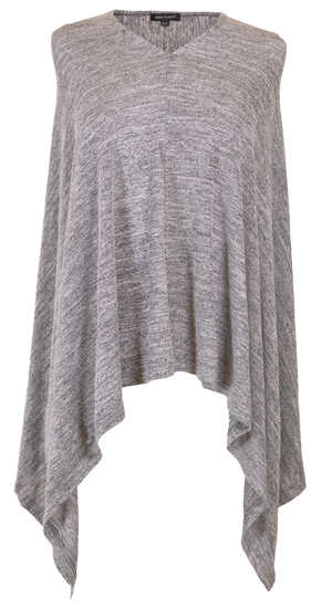 Simply Southern Knit Poncho-Light Heather Grey