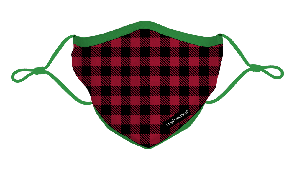 Simply Southern Gingham Mask-Youth