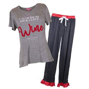 Simply Southern Adult PJ Set-Wine
