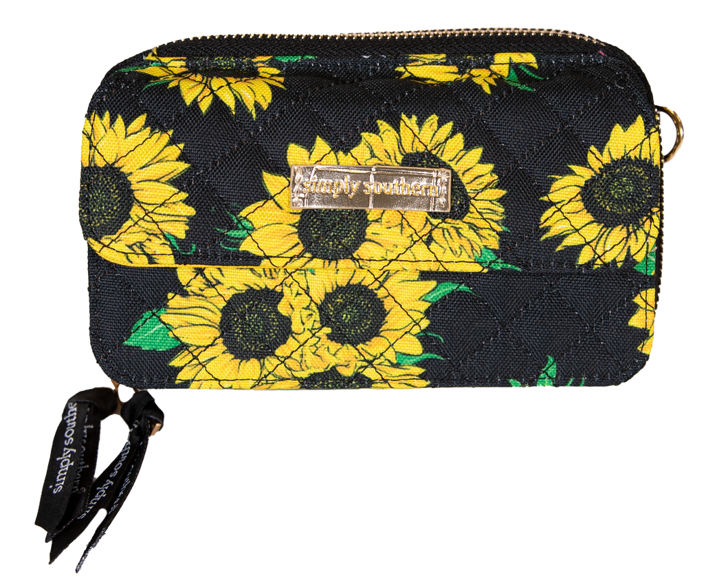 Simply Southern Phone Wristlet/Crossbody-Sunflower