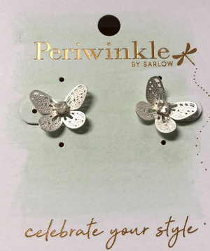 Periwinkle Butterfly Earrings