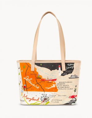 Spartina Bay Dreams Embroidered Tote