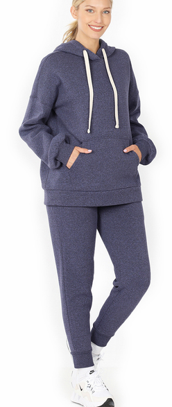 Hoodie and Jogger Set-Navy