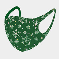 Christmas Mask-Snowflakes-Green