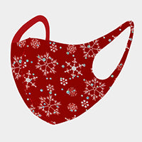 Christmas Mask-Snowflakes-Red