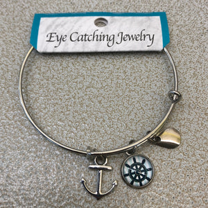 Eye Catching Jewelry Anchor Bangle