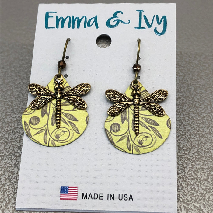 Emma & Ivy Dragonfly Earrings