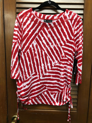 N Touch Red Stripe Top