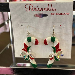 Candy Canes and Bows Earrings