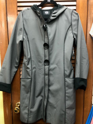Cameleon Long Coat-Black and Grey