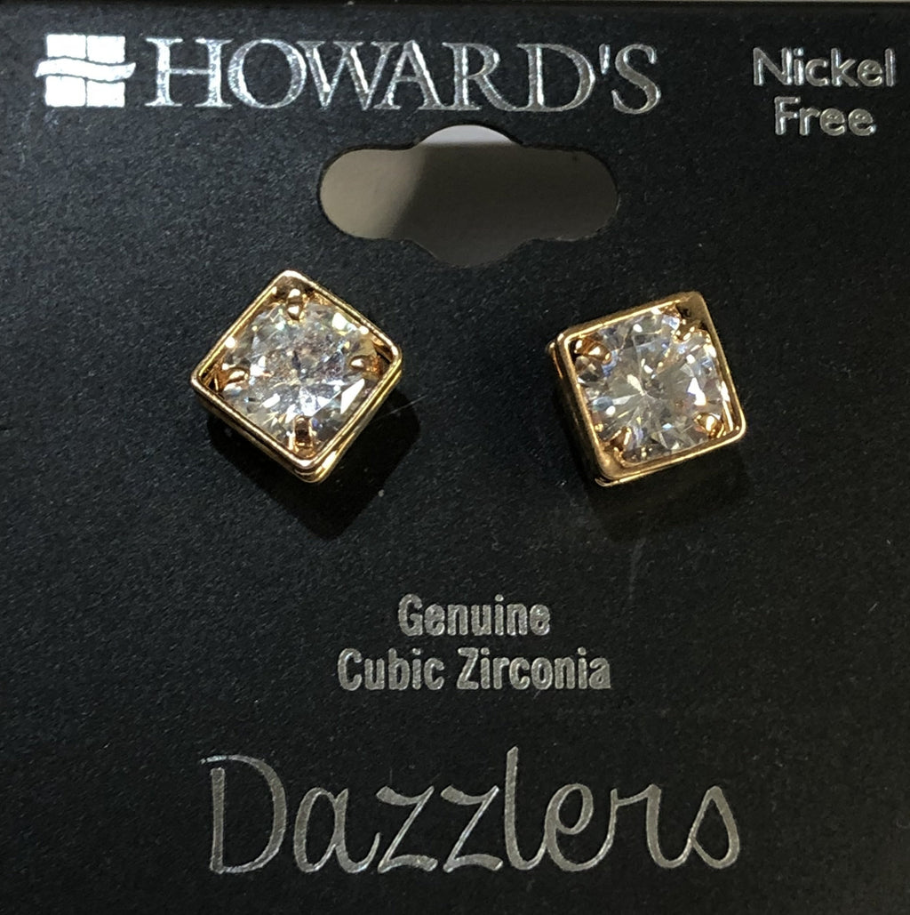 Howard's Simple Square Earrings