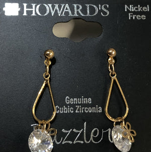 Howard's Flower and Crystal Drop Earrings