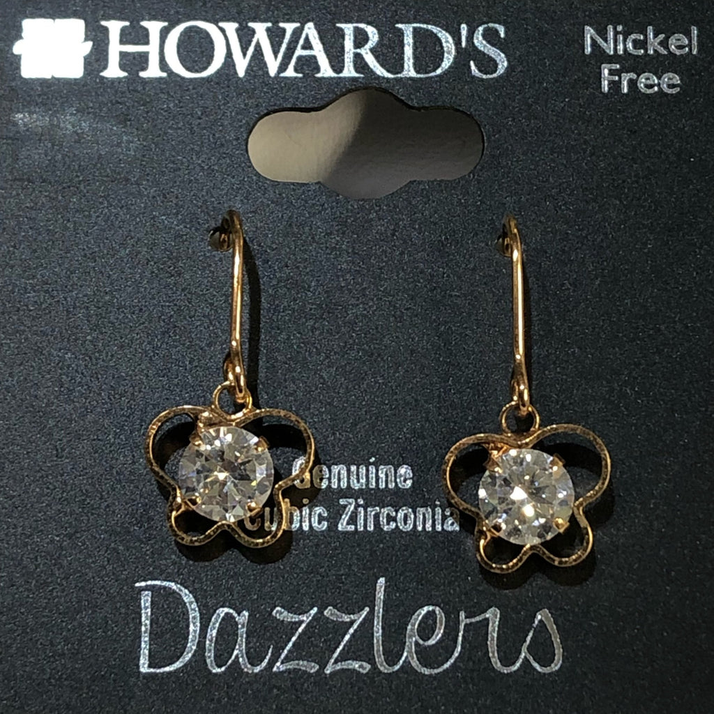 Howard's Butterfly Crystal Drop Earrings