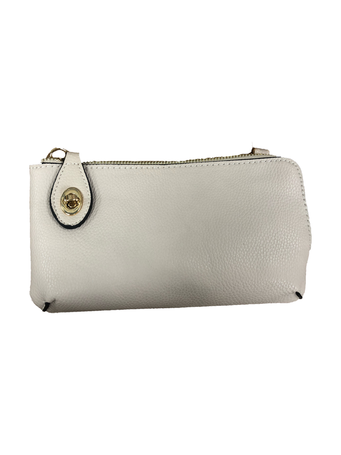 White Crossbody Wristlet