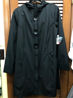 Cameleon Long Coat-Black
