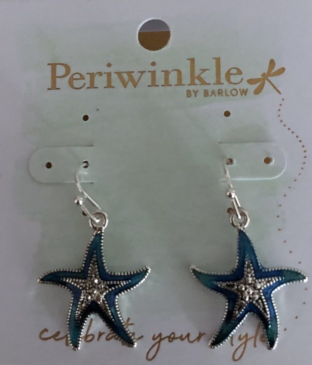 Periwinkle Starfish Drop Earrings
