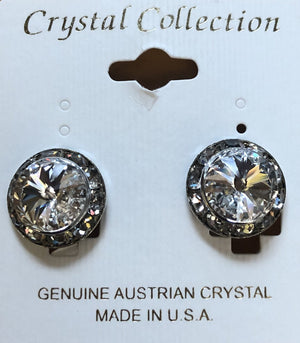 Crystal Collection Clip On Crystal Earrings
