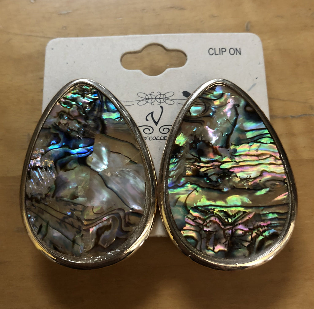 Clip On Multicolor Earrings