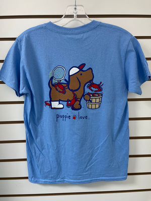 Puppie Love Youth Crab Tee