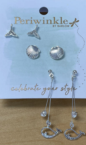 Periwinkle by Barlow Dolphin Earring Set