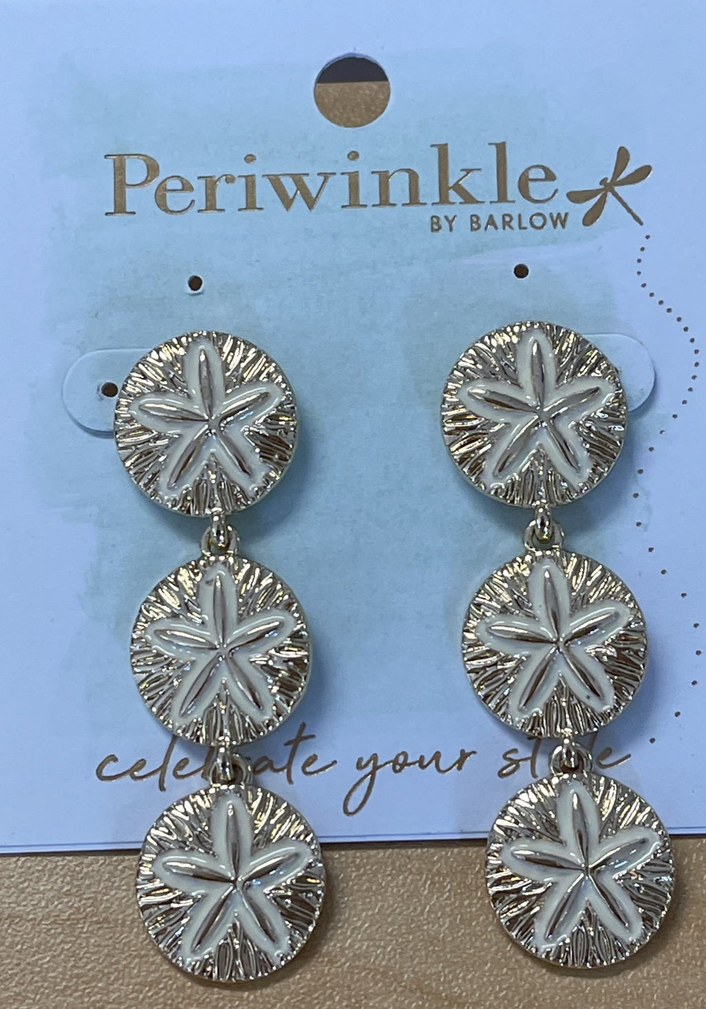 Periwinkle by Barlow Sand Dollar Earring