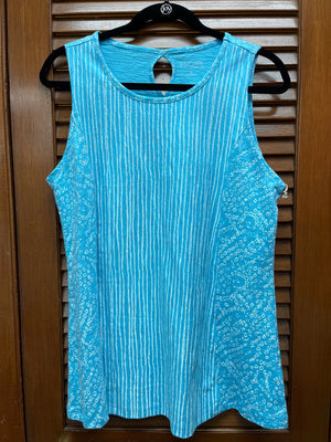 Escape Striped Tank-Blue