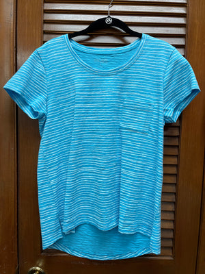 Escape Striped Tee-Blue