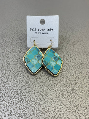Tell Your Tale Turquoise Earrings