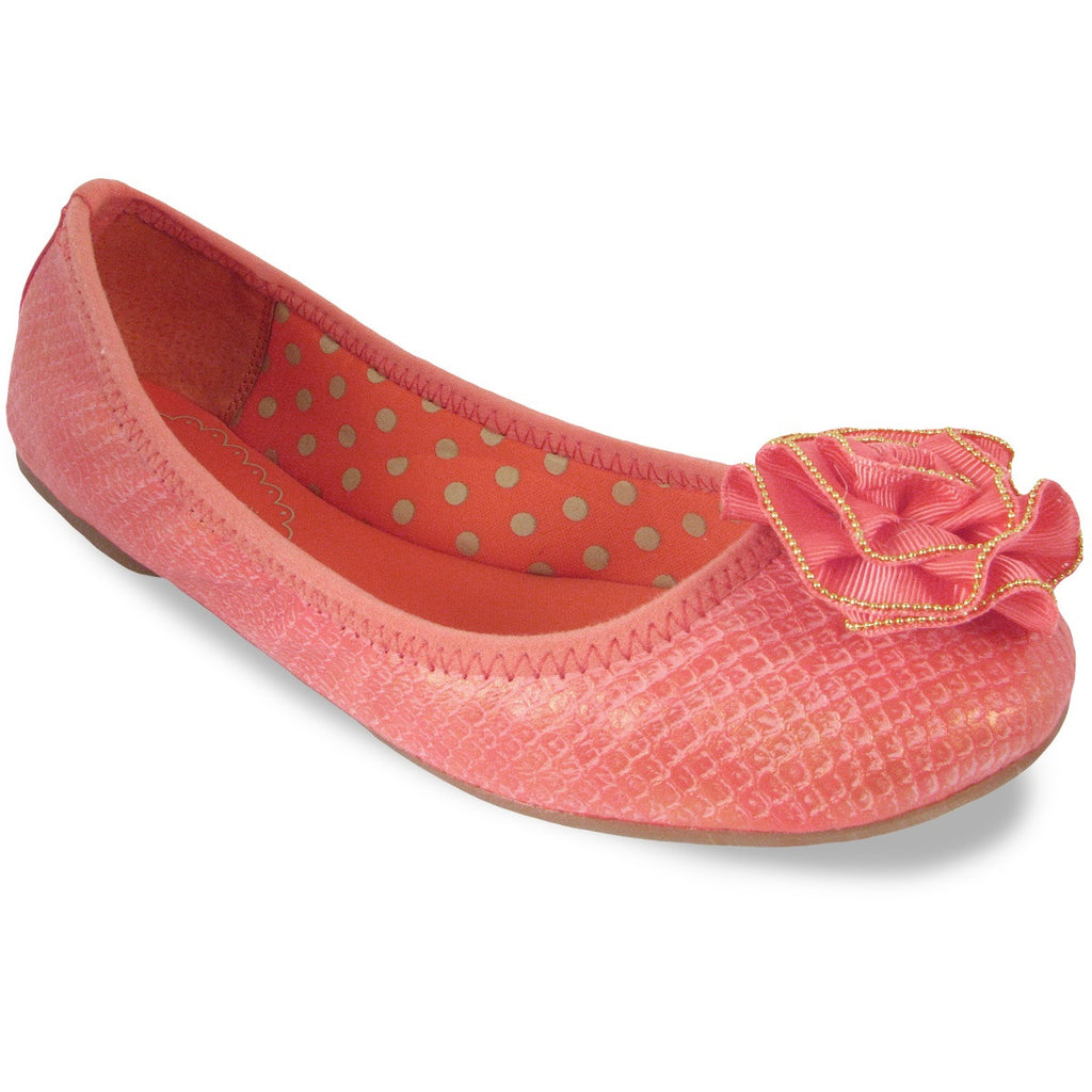 Liz Burnished Coral Ballet Flat