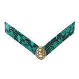 Lindsay Phillips Addie Strap Turquoise Snakeskin