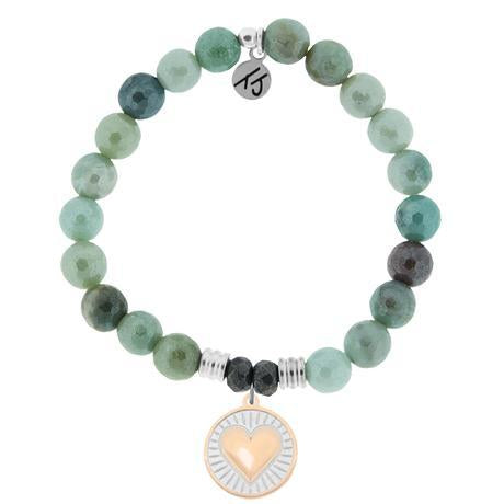 T. Jazelle Amazonite Heart of Gold Bracelet
