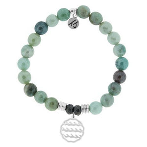 T. Jazelle Amazonite Waves of Life Bracelet