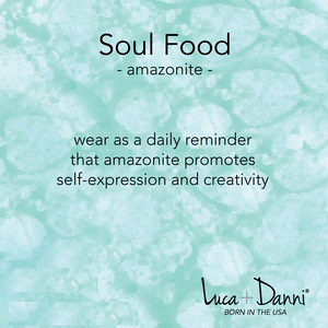 Amazonite Soul Food Hudson, Luca + Danni card
