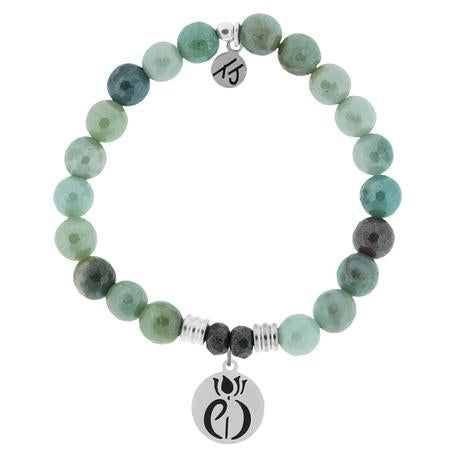 T. Jazelle Amazonite Parkinsons Awareness Bracelet